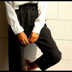 OAK + FORT Paperbag Waist Raw Hem Jeans